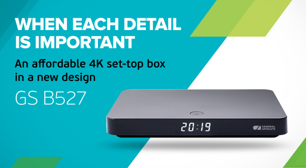 GS B527 – an affordable 4K set-top box in a new design