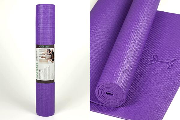 Липкий армированный коврик для йоги Ganesh
