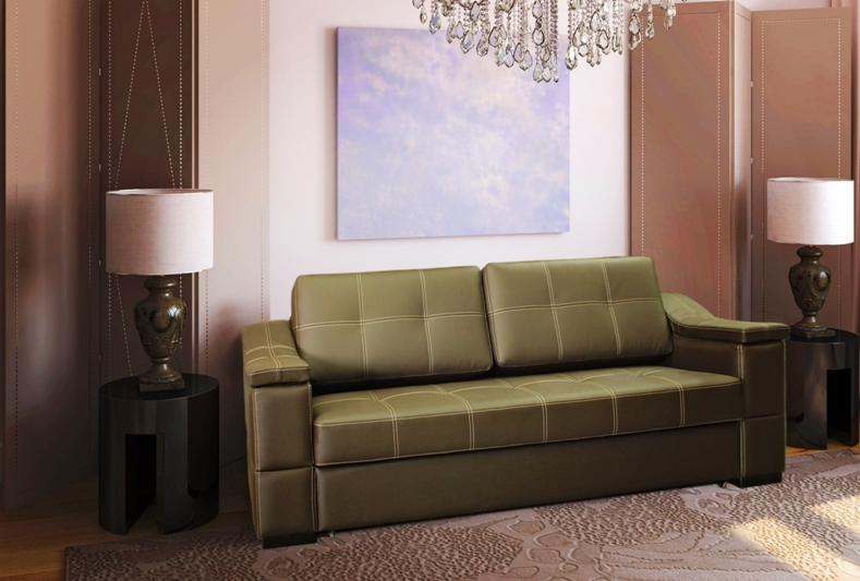 диван в коже